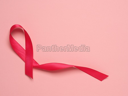 pink ribbon curl on a pink