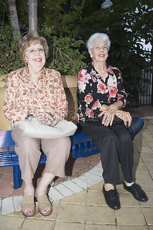 portrait of two senior women sitting