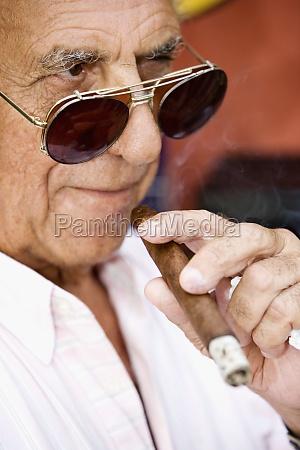 close up of a mature man