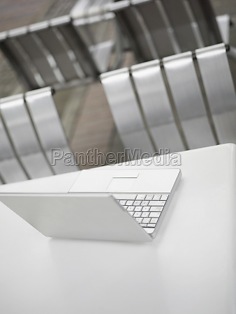 high angle view of a laptop