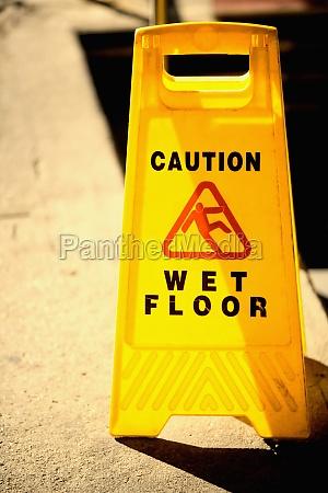 close up of a wet floor