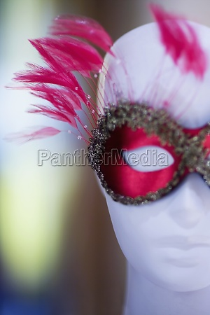 close up of a mannequin wearing