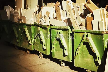 wooden planks in trolleys