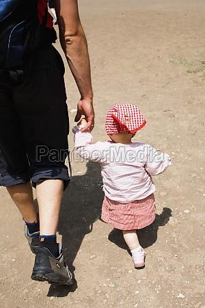 rear view of a man walking