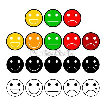 customer opinion survey buttons set mood
