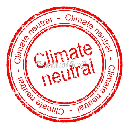 climate neutral rubber stamp red