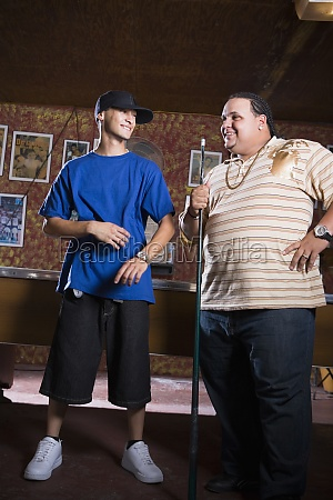 portrait of young men in reggaeton