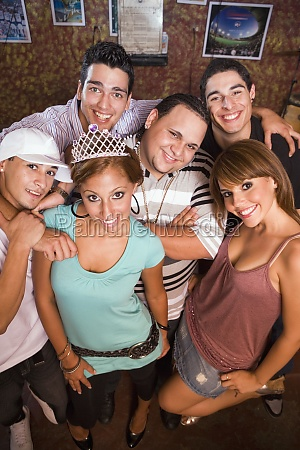 group portrait of young adults at
