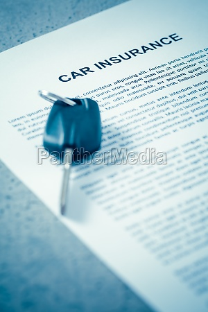 concept of car insurance car