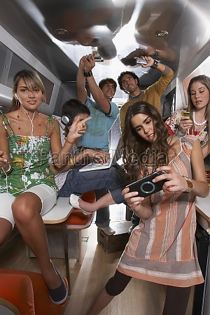 group of people enjoying in a