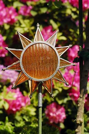 summer sun as hot weather symbol