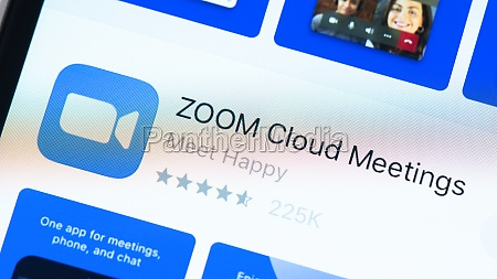 zoom app page in the app