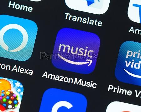amazon music app icon on apple