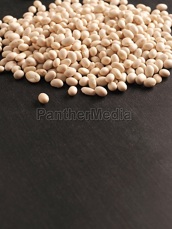 a heap of organic white beans