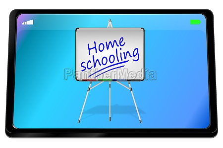 tablet computer with home schooling on