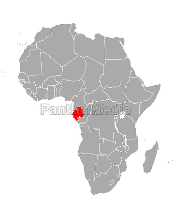 map of gabon in africa