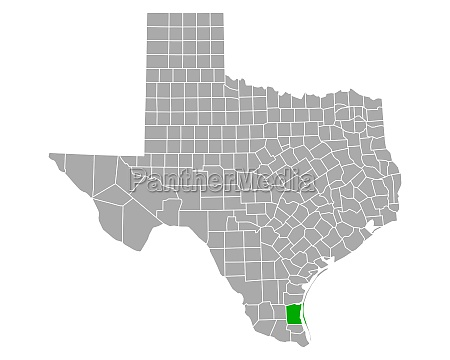 map of kenedy in texas
