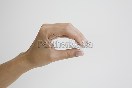 close up of a persons hand