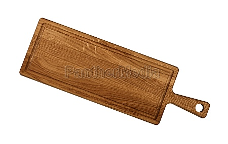 oak wood cutting board isolated on