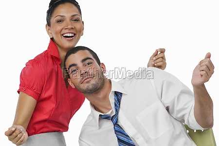 portrait of a businesswoman and a