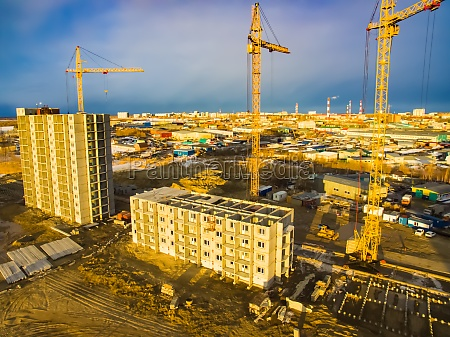 construction of new residential buildings tower