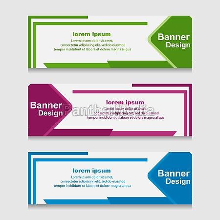 set of design print banner or