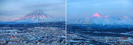 set of panoramic view of the