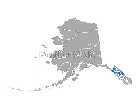 map of hoonah angoon in alaska