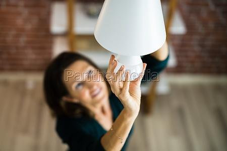 electric led lightbulb change in light