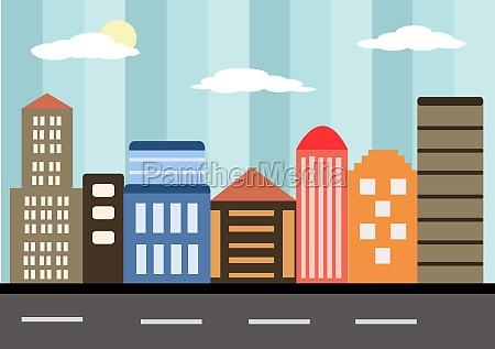 city landscape buildings and architecture silhouette