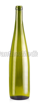 the empy bottle for wine isolated