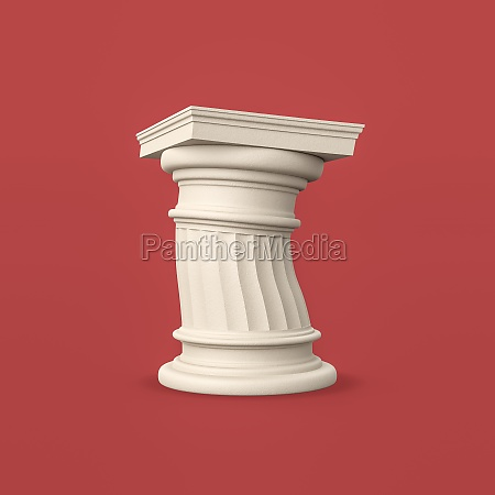 funny ancient column on purple background