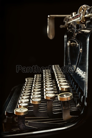 side view of an old typewriter