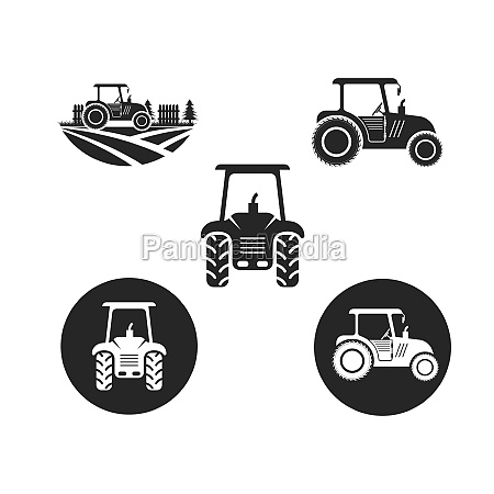 tractor farmer icon vector illustration