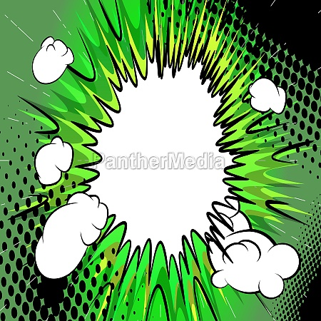 comic book background explosion effect