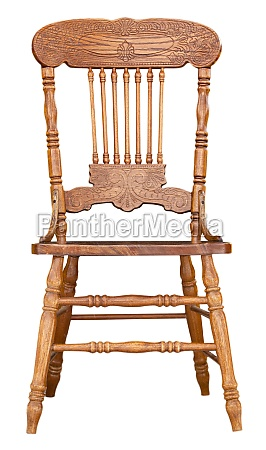 ntique wooden chair view isolated on