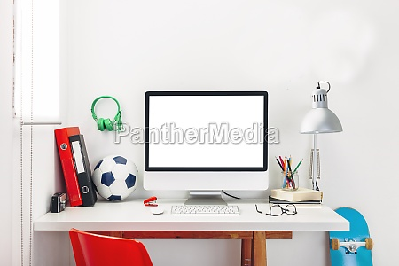 desk in a childs bedroom