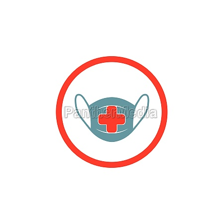 pollution mask icon vector