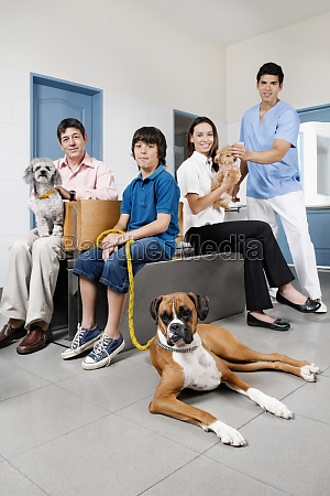 pets with their owners in a