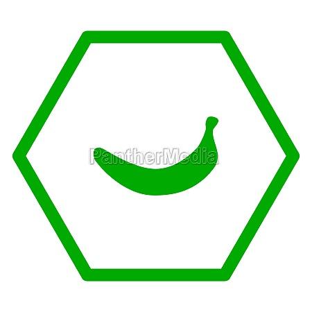 banana and hexagon