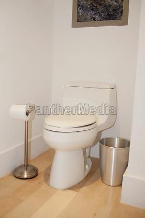 interiors of a toilet