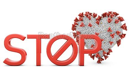 coronavirus heart and stop