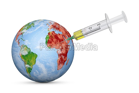 syringe injection in earth