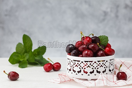 fresh ripe cherries
