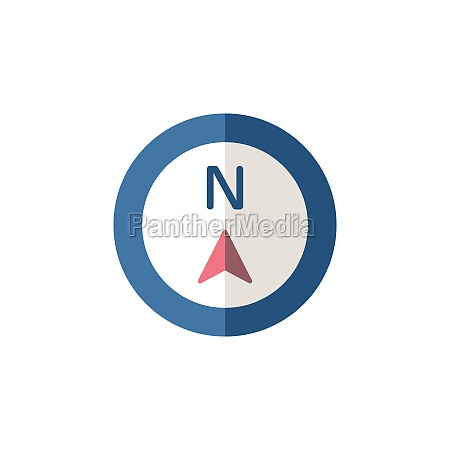 north direction flat icon isolated weather