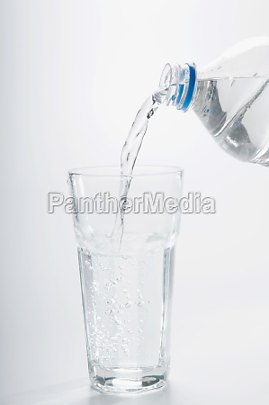 closeup of water pouring from a