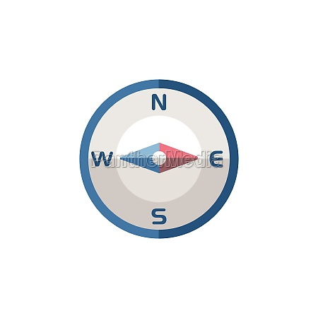 compass, east, direction., flat, icon., isolated - 29337565