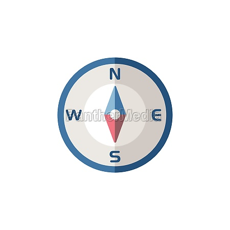 compass, south, direction., flat, icon., isolated - 29337582