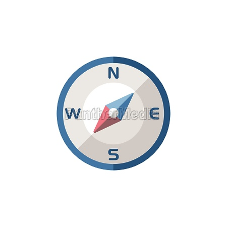 compass, south, west, direction., flat, icon. - 29337645