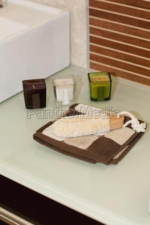 toiletries in the bathroom